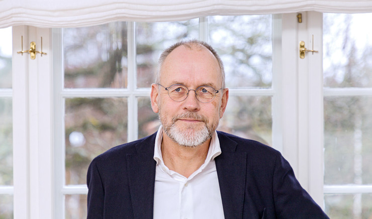 Biskop Henrik Wigh-Poulsen på sit kontor
