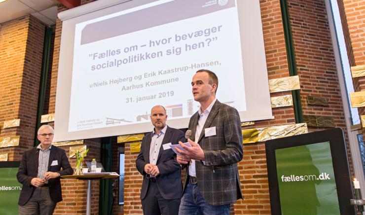 Provst Esben Thusgård taler ved konference