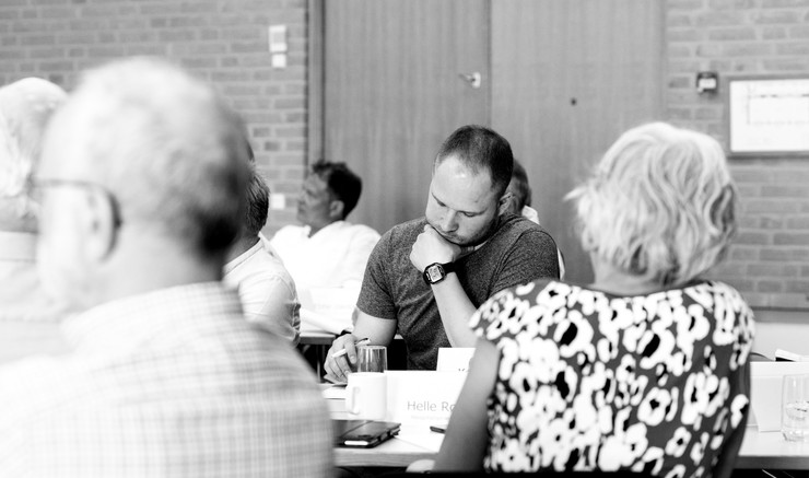 Gruppebillede af Stiftsrådet i Aarhus Stift