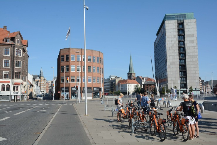 Aarhus by med domkirken i baggrunden